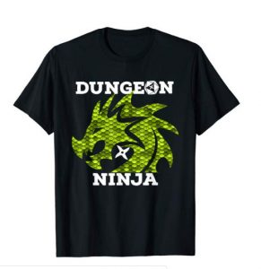 Green Dragon Dungeon Ninja Shirt for RPG enthusiasts
