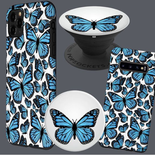 Blue Butterfly Phone Accessories